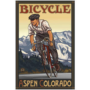 Aspen Colorado Downhill Biker Mountains
