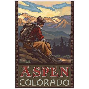 Aspen Colorado Mountain Hiker Man