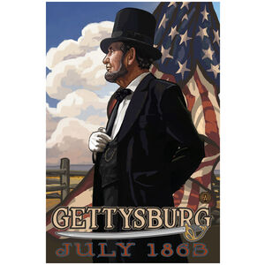 Gettysburg Civil War Lincoln Flag