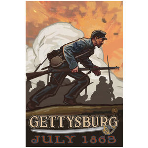 Gettysburg Civil War Infantry Charge