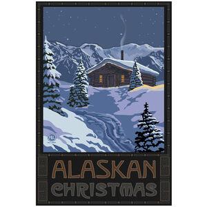 Alaskan Christmas Winter Mountain Cabin