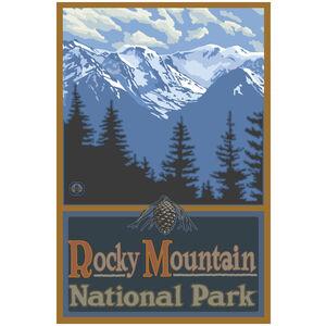 Rocky Mountain National Park Snowy Mountain Ridges