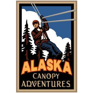 Alaska Canopy Adventures Zipline Giclee Art Print Poster by Paul A. Lanquist