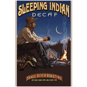 Sleeping Indian Decaf Giclee Art Print Poster by Paul A. Lanquist
