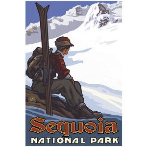 Sequoia National Park High Mountain Skier