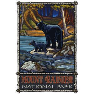 Mount Rainier National Park Bears In Stream