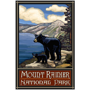 Mount Rainier National Park Lake Bears