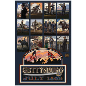 Gettysburg Civil War Collage