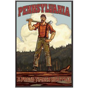 Pennsylvania Lumberjack Hills Giclee Art Print Poster by Paul A. Lanquist