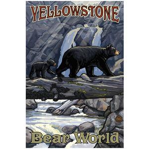 Yellowstone Bear World Bears On Log