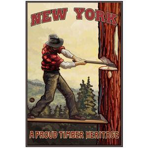 New York Tree Chopper Giclee Art Print Poster by Paul A. Lanquist