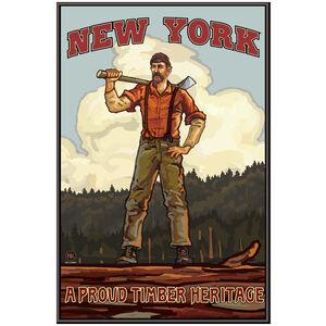 New York Lumberjack Hills Giclee Art Print Poster by Paul A. Lanquist