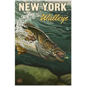 New York Walleye Giclee Art Print Poster by Paul A. Lanquist