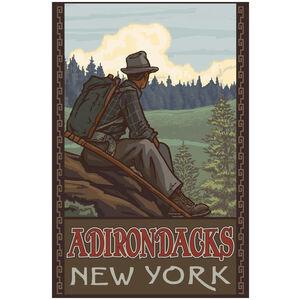 Adirondacks New York Mountain Hiker Man Forest