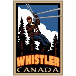 Whistler Canada Zipline Giclee Art Print Poster by Paul A. Lanquist