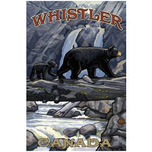 Whistler Canada Fat Tire Bike Giclee Art Print Poster by Paul A. Lanquist