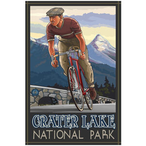 Crater Lake National Park Downhill Biker Blue