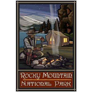 Rocky Mountain National Park Lake Tent Camper
