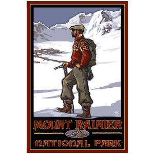 Mount Rainier National Park Lone Peak Climber