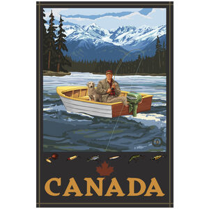 Canada Fisherman In Boat