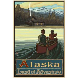 Alaska Land Of Adventure Lake Canoers Mountains
