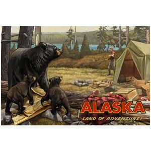 Alaska Land Of Adventure Lake Camper Bears