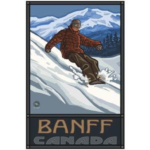 Banff Canada Snowboarder Edge