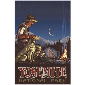 Yosemite National Park Camper And Dog