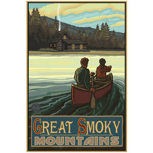 Great Smoky Mountains Lake Canoers Hills