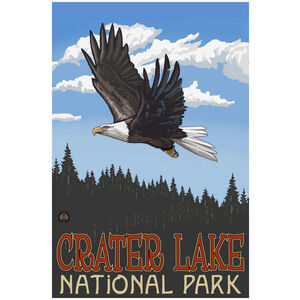 Crater Lake National Park Eagle Soaring Forest
