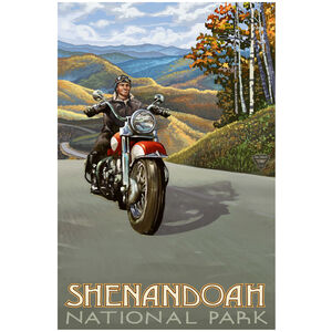 Shenandoah National Park Motorcycle Rider