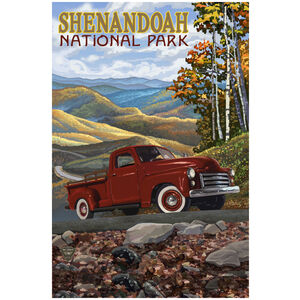 Shenandoah National Park Big Red Truck