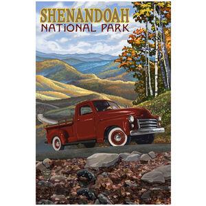 Shenandoah National Park Big Red Truck