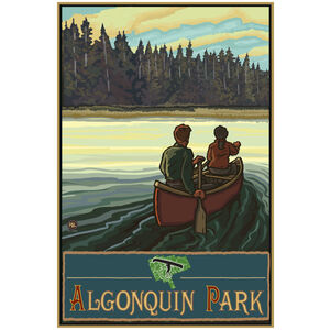 Algonquin Park Ontario Canada Lake Canoers Forest
