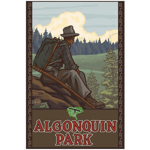 Algonquin Park Ontario Canada Mountain Hiker Man Forest