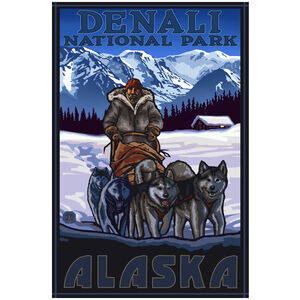 Denali National Park Alaska Sleddogs