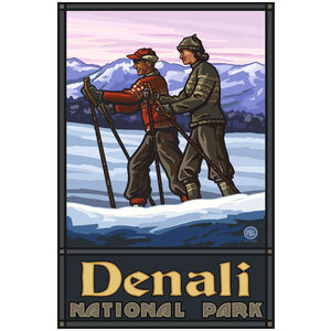 Denali National Park Cross Country Skiers