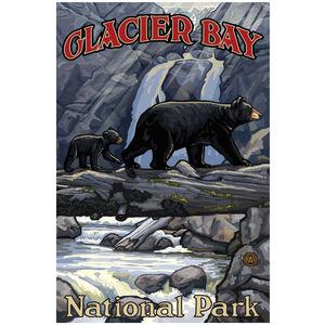 Glacier Bay National Park Bears On Log