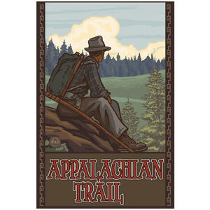 Appalachian Trail Mountain Hiker Man Forest