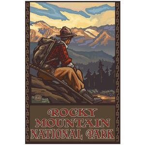 Rocky Mountain National Park Mountain Hiker Man
