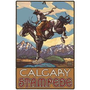 Calgary Stampede Bucking Horse Cowboy