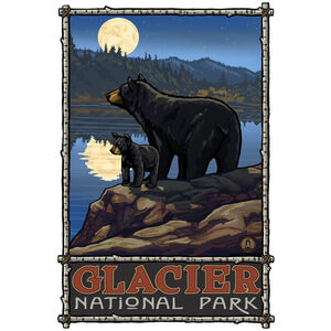 Glacier National Park Bear Lake Moon