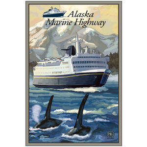 Alaska Marine Highway With Logo