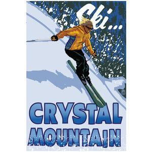 Crystal Mountain Skier Mount Rainier Washington