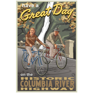 Historic Columbia River Highway Bikers Oregon
