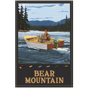 Bear Mountain New York Fisherman In Boat Hills