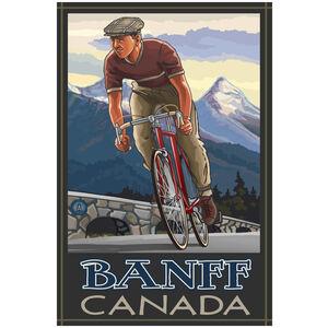 Banff Canada Downhill Biker Blue