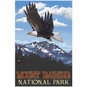 Mount Rainier National Park Eagle Soaring