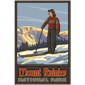Mount Rainier National Park Girl Skier