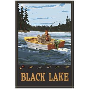 Black Lake Michigan Fisherman In Boat
